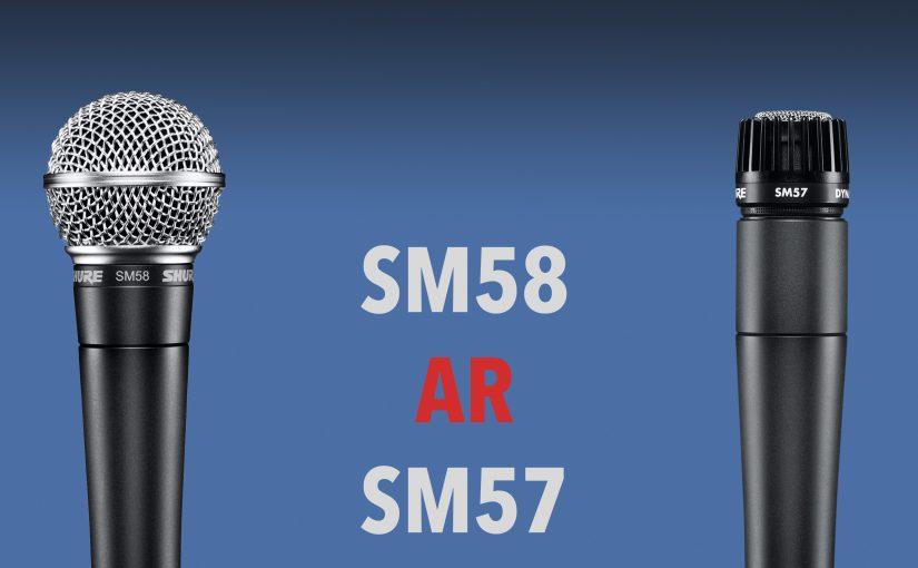 Shure SM57 ir SM58 skirtumai